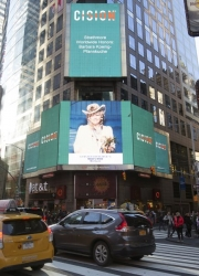 Barbara Koenig-Pfannkuche Honored on the Famous Reuters Billboard in Times Square in New York City by Strathmore's Who's Who Worldwide Publication