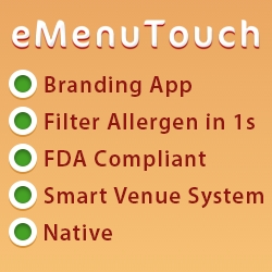 Queensway Presents eMenuTouch - Software System, Covering FDA Legislation Ingredient and Nutrition Fact Requirements, Filtering Menus in a Second and More