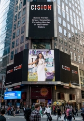 The Legendary Bonnie Pointer Honored on the Reuters Billboard and in P.O.W.E.R. Magazine by P.O.W.E.R. (Professional Organization of Women of Excellence Recognized)
