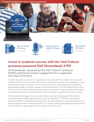 Principled Technologies Publishes Report Showing How Chromebooks Powered by the Intel Celeron Processor N3350 Can Affect Classroom Experiences