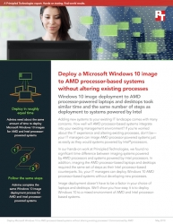 Principled Technologies Shows Deploying a Microsoft Windows 10 Image to AMD Processor-Based Business Class Systems Doesn't Disrupt Existing Processes
