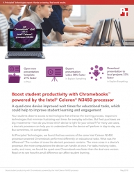 Principled Technologies Report Shows How Quad-Core Intel Celeron N3450 Processor-Powered Chromebooks Can Reduce Wait Times in Educational Apps