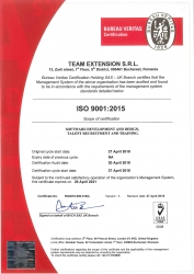 Team Extension Achieves ISO 9001: 2015 Certification