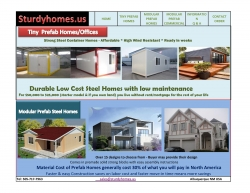 Sturdy Homes Ltd. of Albuquerque New Mexico USA Introduces Affordable Tiny Steel Container Type Houses Along with Modular Customs Houses