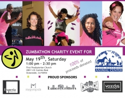 Dance4Critters is Partnering Up with the Helen Woodward Animal Center to Host a Zumbathon Charity Event for Animals in Need