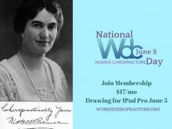 National Women Chiropractors Day, June 5
