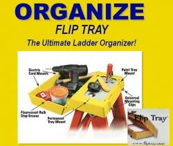New Stepladder Tool FlipTray Now Available to Make Stepladder Tasks Easier & Safer