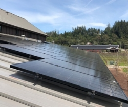 SolarCraft Complete Solar Power System at Comstock Wines - Dry Creek Winery Harvests the Power of the Sun