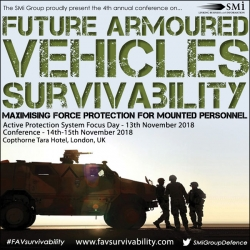 Brand New CBRN Focus at Future Armoured Vehicles Survivability 2018 Conference and Focus Day