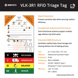 Warp United Release VLK-3R1 RFID Triage Tags for Mass Casualty Incident
