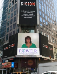 Julia A. Galloway Showcased on the Reuters Billboard in Times Square in New York City by P.O.W.E.R. (Professional Organization of Women of Excellence Recognized)