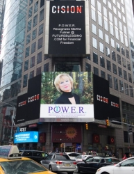 Martha L. Fulmer Recognized on the Reuters Billboard in Times Square in New York City by P.O.W.E.R.  (Professional Organization of Women of Excellence Recognized)