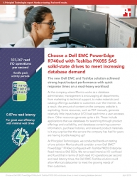 Principled Technologies Finds That Choosing a Dell EMC PowerEdge R740xd Server Using Toshiba SAS SSDs Can Help Companies Meet Increasing Database Demand
