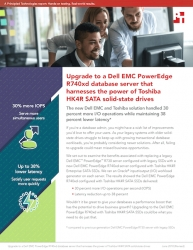 Principled Technologies Finds That Refreshing to a Dell EMC PowerEdge R740xd Server Using Toshiba SATA SSDs Can Help Companies Meet the Needs of Database Users