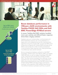 Principled Technologies Finds That a Dell EMC PowerEdge R740xd Solution with Toshiba PX05S SAS SSDs and VMware vSAN Boosted Database Performance
