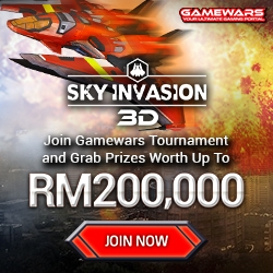 Gamewars Releases New Game Tournament Sky Invasion 3D for Maxis