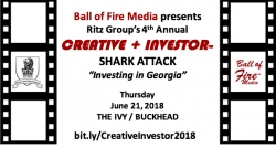 The 4th Annual Creative + Investor Shark Attack to be Held at The Ivy of Buckhead on June 21 in Atlanta