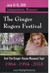 Ginger Rogers Festival and Museum Tour to be Held July 13-15, 2018