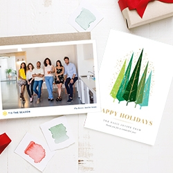 Sophisticated Corporate Holiday Cards Launched by Basic Invite