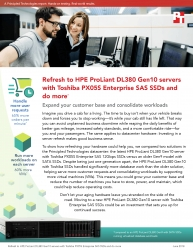 Principled Technologies Releases Study Comparing an HPE ProLiant DL380 Gen10 Server with Toshiba PX05S Enterprise SAS SSDs to a Legacy Solution
