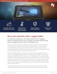 Dell Latitude 7212 Rugged Extreme Tablet Bested Apple iPad Pro in Hands-on Performance and Stress Tests, Principled Technologies Study Finds