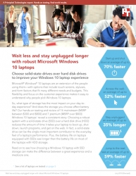Principled Technologies Finds Upgrading to a Windows 10 Laptop with Solid-State Drive Storage Can Help Users Start Faster and Stay Unplugged Longer