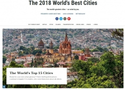San Miguel De Allende Named #1 Top City for 2nd Year in a Row in