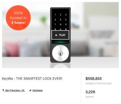 KeyWe Pre-Launches Its Smart Door Lock with Over Half a Million Dollar Funding Success on Kickstarter
