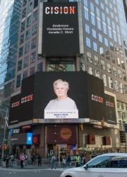 Annette C. Short Honored on the Reuters Billboard in Times Square in New York City by Strathmore's Who's Who Worldwide Publication