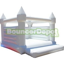 Bouncer Depot Debuts All White Wedding Bounce House