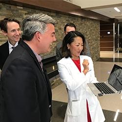 Swedish Medical Center Physicians Demonstrate Telestroke Program for U.S. Senator Cory Gardner