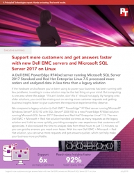 PT Finds Dell EMC PowerEdge R740xd Servers Running Microsoft SQL Server on Linux 2017 and Red Hat Enterprise Linux 7.5 Processed More Orders in Less Time