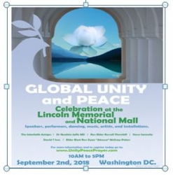 Global Peace and Unity Rally Announced at National Mall in Washington, DC on September 2, 2018