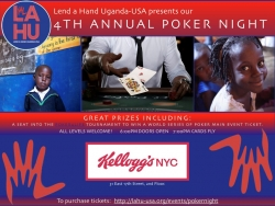 Lend a Hand Uganda-USA Hosts Its 4th Annual Poker Tournament to Expand Its School Lunch Program