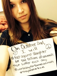 Activists Worldwide Fast in Solidarity on World Day for Farmed Animals, Tuesday, Oct. 2