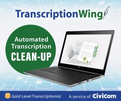 TranscriptionWing Offers Clean-Up Editing Service for Sonix Machine Transcript Customers
