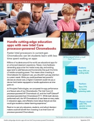 The Intel Core m3 Processor-Powered HP Chromebook x2 Can Save Time on Education Tasks, Principled Technologies Study Finds