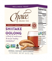 New Shiitake Oolong Tea Introduced by Choice Organic Teas