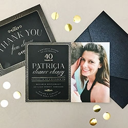 Brand New Milestone Birthday Cards by Basic Invite