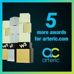 Arteric.com Captures Five More Website Design Awards