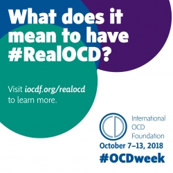 International OCD Foundation to Help Spread Awareness About #RealOCD as Part of OCD Awareness Week: October 7–13, 2018
