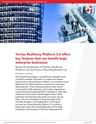Principled Technologies Research Report Compares Veritas Resiliency Platform 3.2 to Zerto Virtual Replication 6.0