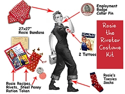 Make Halloween History as Rosie the Riveter: Let RosiesLegacyGear on Etsy Turn You Into an American Icon