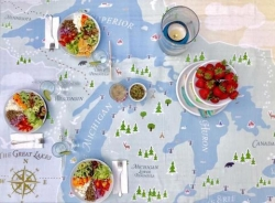 Gather Your Family Around the Great Lakes This Holiday Season with This Gorgeous Great Lakes Tablecloth