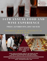 BCAGlobal 14th Annual Celebration in Diversity in Food and Wine