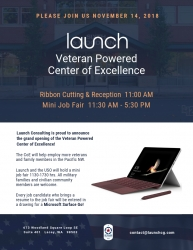 Launch Consulting Announces Nov. 14 Grand Opening of Veteran Powered Center of Excellence in Lacey, WA
