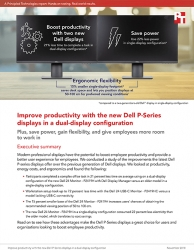 Principled Technologies: New Dell P-Series Displays Can Boost Productivity in Dual-Display Mode, Provide a Better User Experience Than Earlier Models