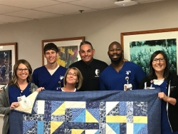 HCA/HealthONE's Presbyterian/St. Luke's Oncology Patients Receive Handmade Quilts from Aurora Police Officers, Adams County Sheriff and Cops Fighting Cancer