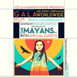 Footprint Foundation Announces First Annual Arts Gala Co-Hosted by Cast from Mayans M.C. and Benefiting Four Different Charities