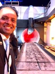 Councilmember Rishi Kumar at Elon Musk's Loop Tunnel Opening